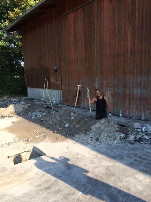 Ausbau BurschenhalleHallenausbau